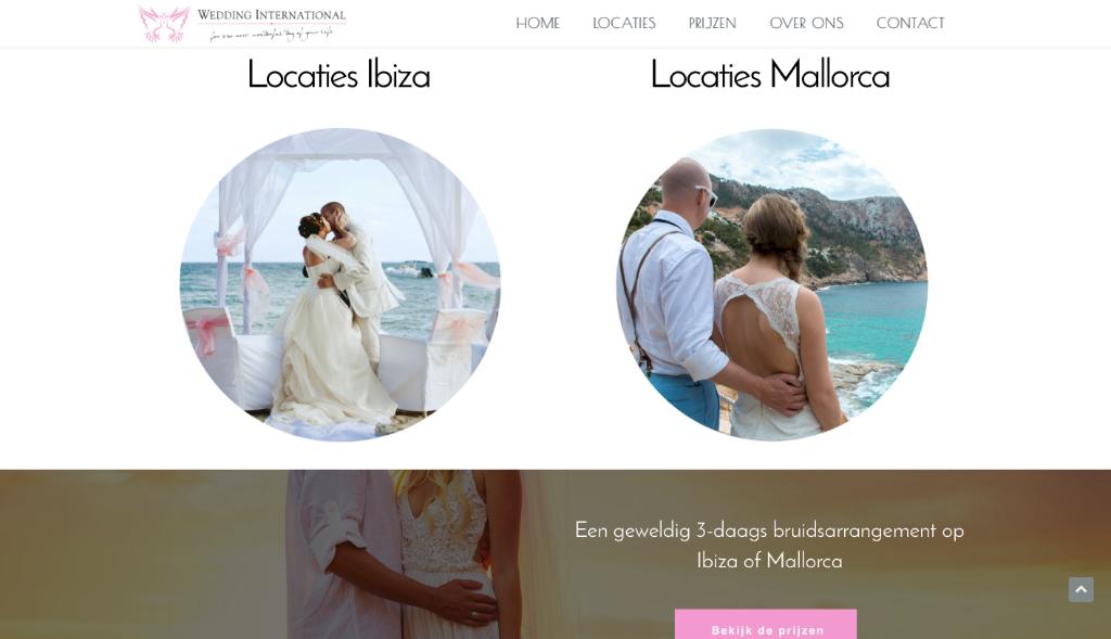 Nieuwe website voor bruiloften op Mallorca & Ibiza